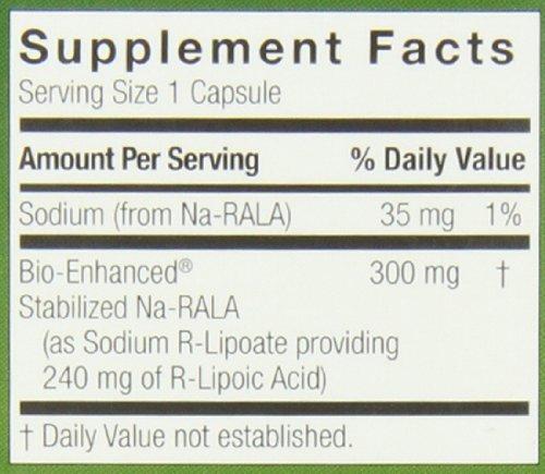 51pEOsxiAUL - Genceutic Naturals R-Lipoic Acid 300 Mg, 60-Count