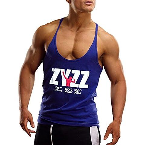 Musclealive Uomo Culturismo ZYZZ Moda Canottiera di cotone