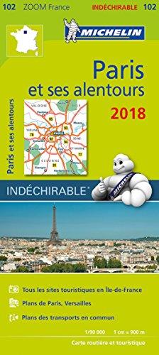 Carte Paris et ses alentours Michelin 2018 par Michelin