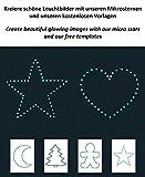 Paraboo 452 Leuchtsterne/Leuchtpunkte für deinen Sternenhimmel - selbstklebend und fluoreszierend Leuchtaufkleber, ohne Mond - 6