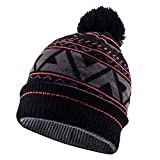 SEALSKINZ 100 Percent Waterproof, Windproof, Breathable - Bobble Hat Ideal for Walking Fishing Hiking Climbing Road Cycling Mountain Biking MTB and Activities in Cold Weather Conditions