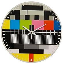 """Orologio da parete """"Monoscopio Tv"""" - in legno"""