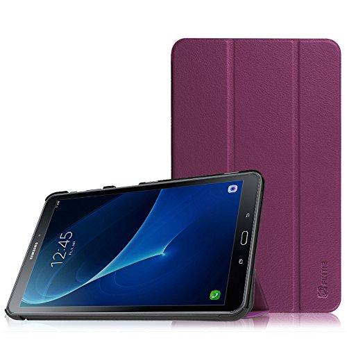 Fintie Samsung Galaxy Tab A 10.1 Hülle - Ultra Schlank Superleicht Ständer SlimShell Schutzhülle mit Auto Schlaf / Wach Funktion für Samsung Galaxy Tab A 10,1 Zoll T580N / T585N, Lila (Tablet Lila)