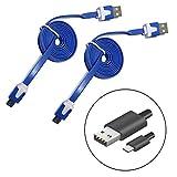 Micro USB Datenkabel und Schnell-Ladekabel (USB A auf Micro USB) (1m) blau 2er SET DISAGU® z. Bsp. für Samsung Galaxy S7, S6, S5, Mini, S4, S3, S2 / Edge / Plus / Note 2, 3, 4, 5 / A3, A5, A7 / J3, J5, J7 - High Speed Sync für diverse Android Smartphones, HTC, Huawei, Sony, Nexus, Nokia, Kindle und mehr