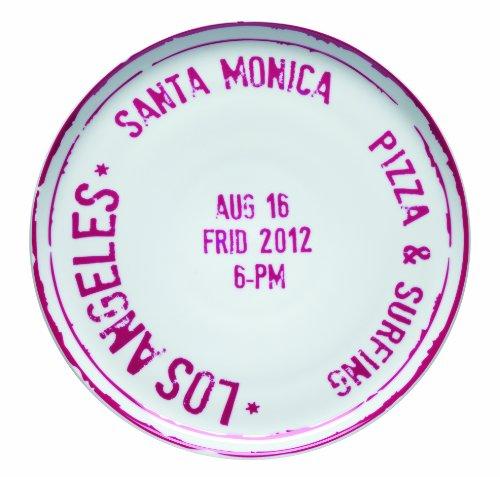 Bitossi Home Mca7 Pizzateller Los Angeles, Porzellan, Reiseprint