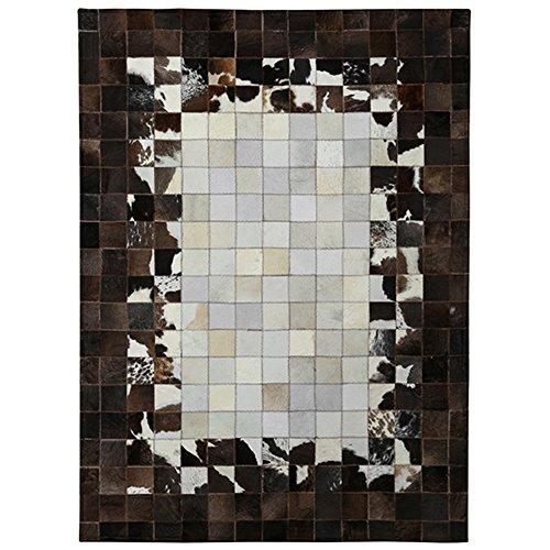 YMXLQQ Teppich Leder geometrische Hand genäht Schlafzimmer Bettvorleger leicht zu reinigen Studie Kaffeepad Teppich ( größe : 140*200cm ) (Hand Leder Genäht Slip)
