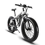 Vélo Tout Terrain électrique Extrbici XF800 1000W 48V 13A VTT électrique à Vente Limitée Mondiale Support de Charge USB avec Suspension Complète et LCD Intelligent & Gros Pneu 26 x 4.0 Le Meilleur Cadeau (Noir Blanc)...