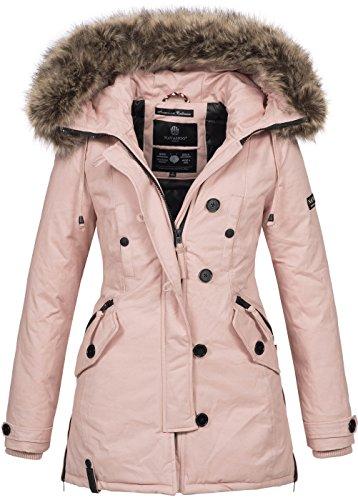 Navahoo Damen Designer Winter Jacke warme Winterjacke Parka Mantel B638 [B638-Pauline-Rosa-Gr.M]