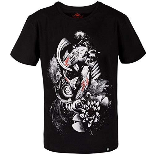 Venum Herren Koi 2.0 T-Shirt, Schwarz/Weiß, S