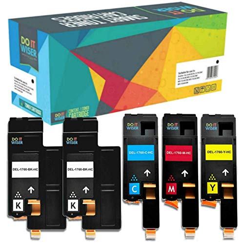 Do it Wiser Compatible Toner Cartridge Replacement for Dell 1250c 1350cnw  1355cn 1355cnw C1760nw C1765nf C1765nfw (5-Pack)
