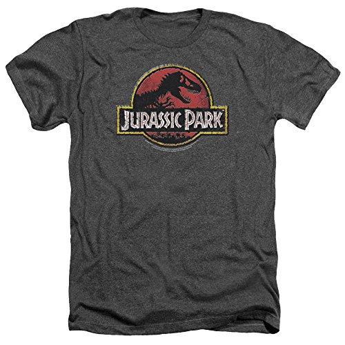 Jurassic Park Logo pietra da uomo Heather Charcoal Medium