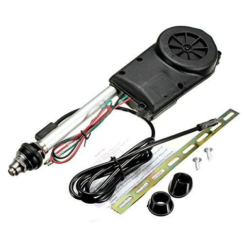 Auto Antenne - TOOGOO (R) Auto Elektrik Luft Radio Automatische Booster Leistung Antenne Set Schwarz -