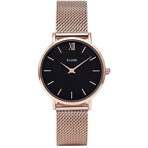 Cluse Damen Armbanduhr Analog Quarz Edelstahl CL30016