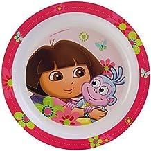Fun House Dora Plato apto para microondas, diseño infantil de Dora la Exploradora, diámetro: 22cm