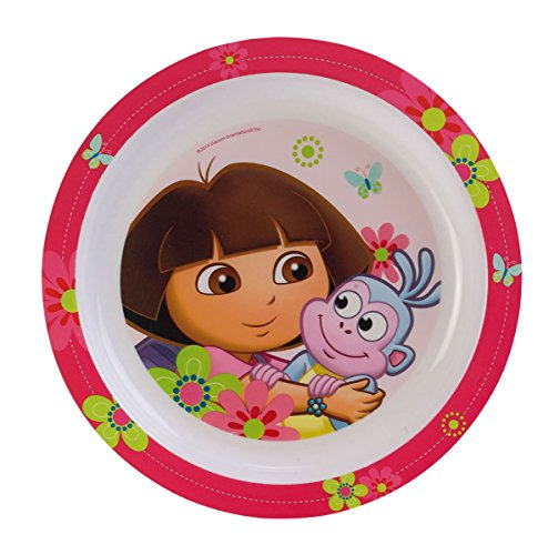 Fun House Dora Assiette micro-ondable diamètre 22 cm