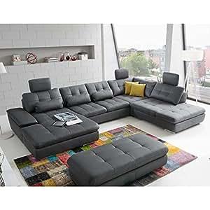 roller roller wohnlandschaft parole anthrazit. Black Bedroom Furniture Sets. Home Design Ideas