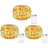 MIRADH 3 Pack of 10 Feet 30 Led Fairy Lights Battery Operated Waterproof Copper Wire Led Light for Home Decoration, String Li