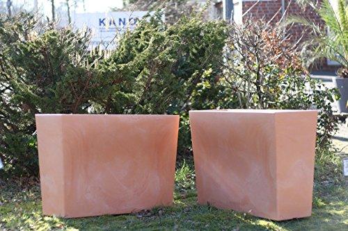 Plastica vaso per fiori vaso per piante fioriera set 2 for Vaso rettangolare plastica 100 cm