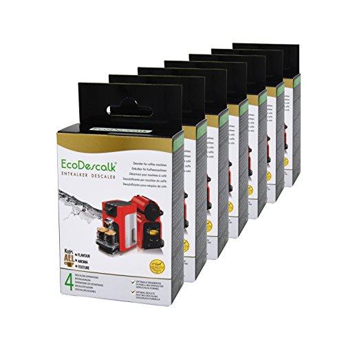 EcoDescalk, 7er Pack x 4 Beutel. Entkalker-Pulver für alle Kaffeemaschinen & Kaffeevollautomaten...