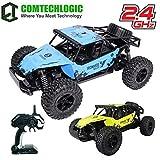 Comtechlogic CM-2221 2.4Ghz 1:12 Echelle USB Électrique Muscle Rc Tout Terrain Radio Télécommande 4x4 Buggy Voiture EP RTR - Intérieur & Extérieur - Bleu 4x4