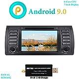 XISEDO Android 9.0 Autoradio 7' In-dash Car Radio 6-Core RAM 4G ROM 64G Car Stereo e Lettore DVD per BMW 5-E39/BMW X5-E53 (con dongle DAB)