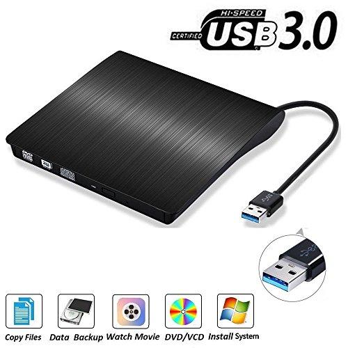 USB3.0 externes CD DVD Laufwerk Brenner, QinYun Superdrive für Alle Laptops/Desktop Unter Windows und Mac OS für Apple MacBook, MacBook Pro, MacbookAir, iMac