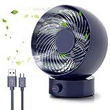 Tencoz Ventilatore da Tavolo, Ventilatore Silenzioso, entilatore da scrivania Silenzioso USB Ventola di Raffreddamento con Regolabile Mini Ventilatore da scrivania, per casa, Ufficio, Esterno, Viaggi