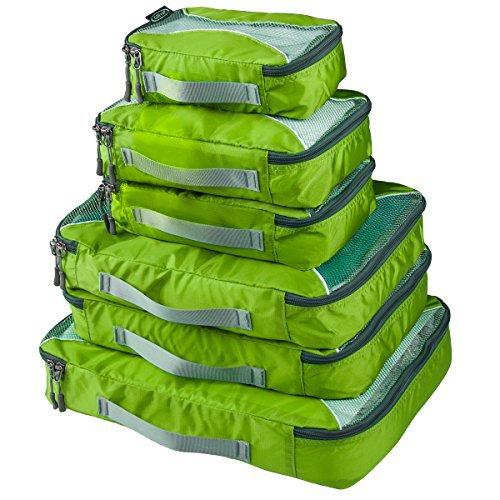 G4Free 6-Teilig Kleidertaschen Packtaschen Kofferorganizer Reisetaschen Packwürfel Set