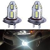 H7 LED Fog Light Bulb Epistar 2835 Chips 6000K Xenon White...