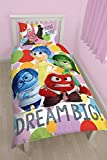 Character World Disney Inside Out Emotion Set di biancheria da letto, Multicolore