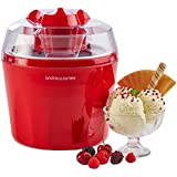"""Andrew James Ice Cream Maker - Voted """"Best Buy"""" By Which? Magazine. 1.5 Litre - Red"""