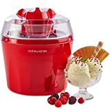 "Andrew James Ice Cream Maker - Voted ""Best Buy"" By Which? Magazine. 1.5 Litre – Red"