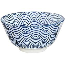 Tokio Design Studio Nippon Blue Wave Reis Schale 12x 6,4cm, Blau/Weiß