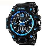 SKMEI men 's large dial waterproof electronic watch fashion multi - functional outdoor