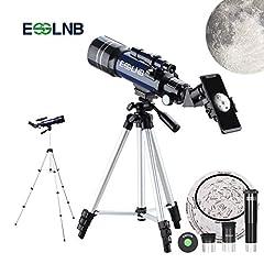 Idea Regalo - ESSLNB Telescopio Astronomico con Treppiede Regolabile e Adattatore Telefonico 70mm Completamente Rivestito Lente Barlow Lente
