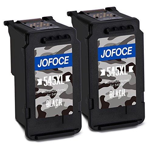 Jofoce Remanufactured Canon PG-545XL 545 Cartucce d'inchiostro (2 Nero), Compatibile con Canon Pixma MG2450 MG2550S iP2850 MX495 MG3050 MG3051 MG2950 MG3053 MX490 iP2800 iP2840 iP2855 Stampante