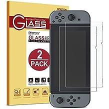 [2 Unidades] Nintendo Switch Protector de pantalla OMOTON,9H Dureza,Anti-aceite,Anti-arañazos,Sin Burbujas,Cristal Templado Nintendo Switch,Garantía de por Vida.