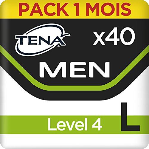 Tena Men Level 4 Pants Large, Monats-Paket mit 40 Pants (4 Packungen je 10 Einweghöschen) - Inkontinenz-unterwäsche Männer Für