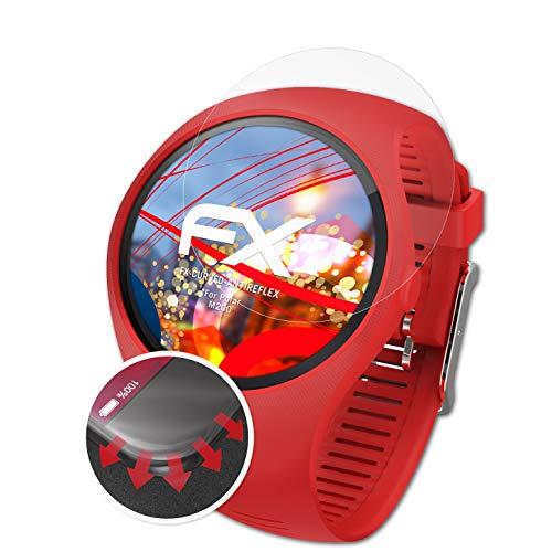 atFoliX Schutzfolie passend für Polar M200 Folie, entspiegelnde und Flexible FX Displayschutzfolie (3X)