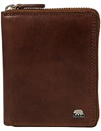 Brown Bear Geldbörse Leder braun Reißverschluss 8009 br