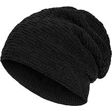 Compagno caldo berretto foderato berretto invernale beanie modello  intessuto con soffice fodera interna in pile e82076f0e172