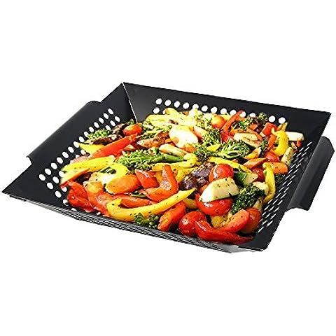 Arctic Monsoon Cestello per Barbecue, Antiaderente barbecue grill Stuoie, Forno Liner, cottura Mat, Mats cucina Griglie per cuocere, Verdure Carne grigliate