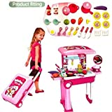 Zest 4 Toyz 2 In 1 Little Chef Kids Kitchen Play Set With Light & Sound Cooking Kitchen Set Play Toy.