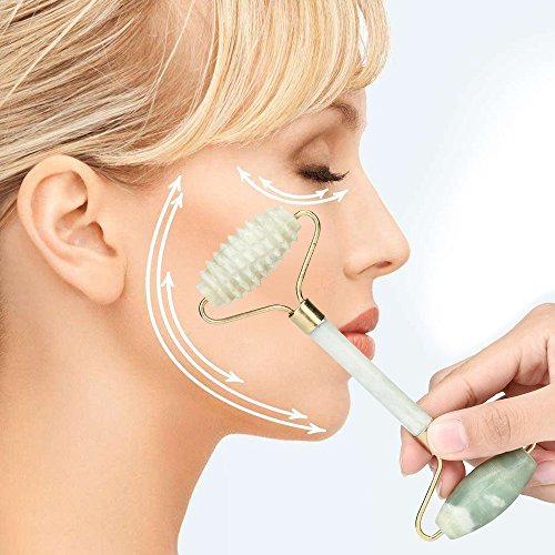 Jade Roller Massager Covermason Jade Rouleau Visage Visage Cou Slimming Massager Beauté