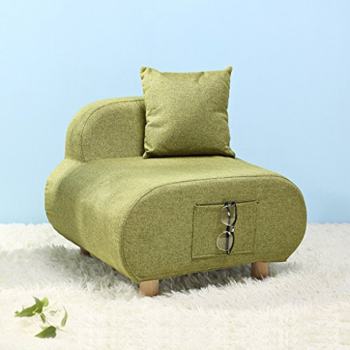 Sitzsäcke Lazy Sofa Nordic Style Single Tuch Kleine Sofa Stuhl Einfache Freizeit Hocker (Farbe :...