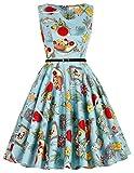 50s dress rockabilly damen sommerkleid partykleider cocktailkleider knielang festliches kleid Größe S CL6086-42