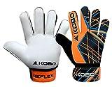 Kobo Reflex 8 Latex Football Goal Keeper Gloves (White)