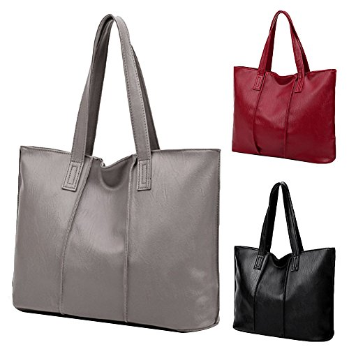 sundatebe, Borsa tote donna, Grey (Grigio) - Y1374N9AZDJX09FT3QDOBF Wine Red
