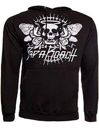 Papa Roach Cobra Skull band Homme nouveau Noir Pullover Sweat-shirt à capuche