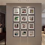 xk Foto Wand Unternehmen Fotorahmen handgefertigte Holz Schlafzimmer Wohnzimmer handgefertigte Holzrahmen Sicherheit Eco Wall Set Bilderrahmen (Farbe : A)